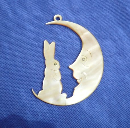 Rabbit on the Moon pendant designed by Jean Tori