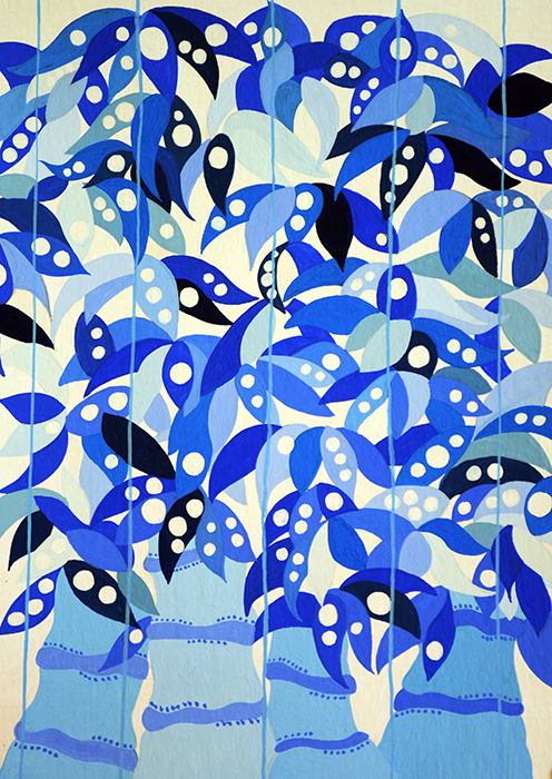 Blue Bamboo pattern design by Jean Tori