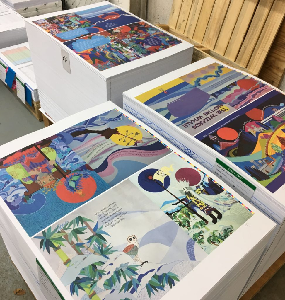 Book pages of the Wizards and the Whale at KMS Litho