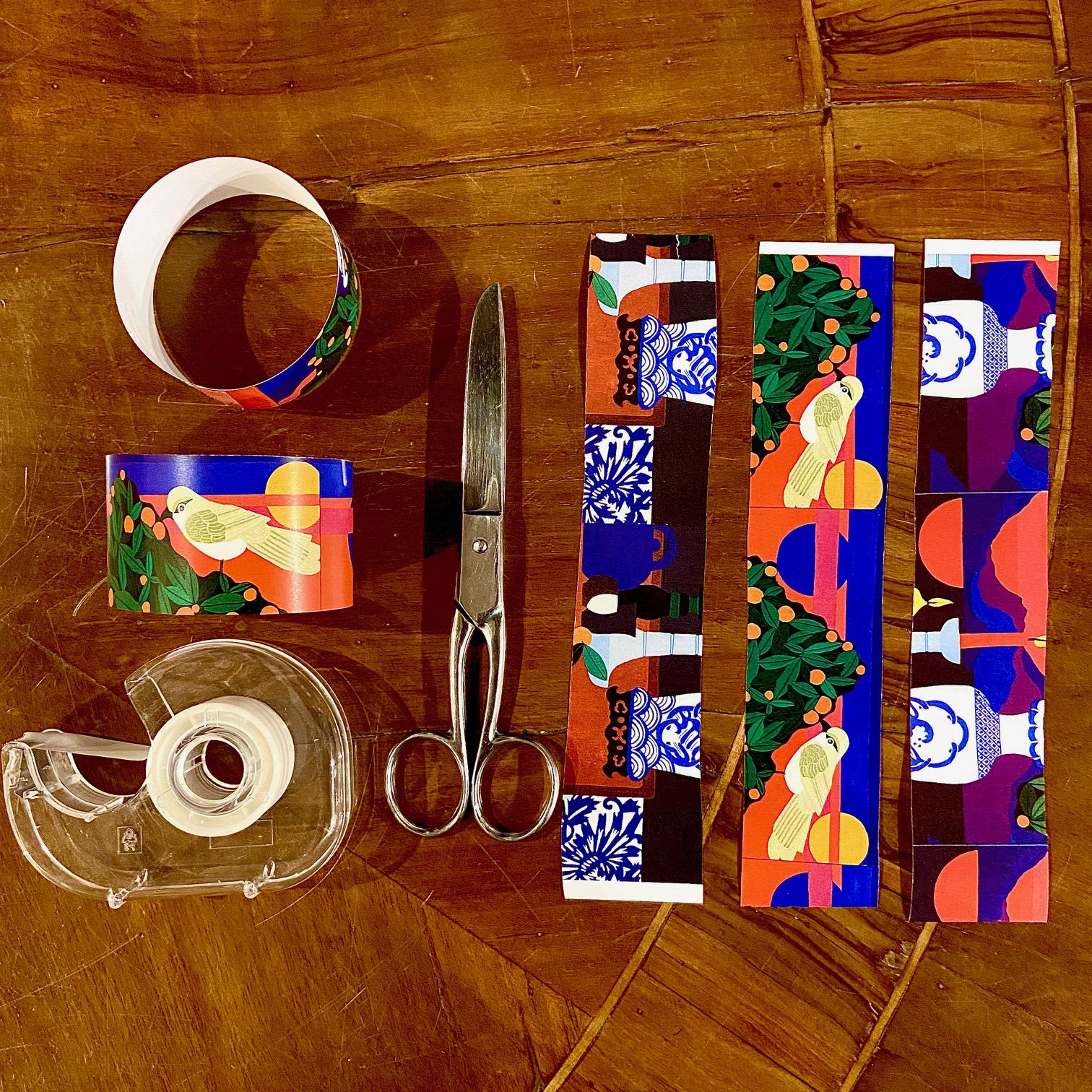 What you will need to make a paper chain Jean Tori Design 2020