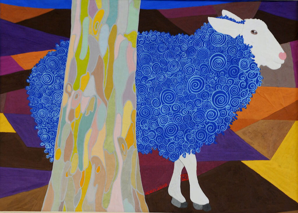 Gretchen the Sheep in Elliot and the Perfect Wave book by Jean Tori 2021