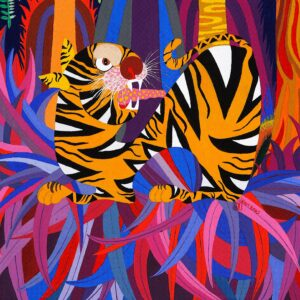 Detail of Jungle Tiger by Jean Tori 2008