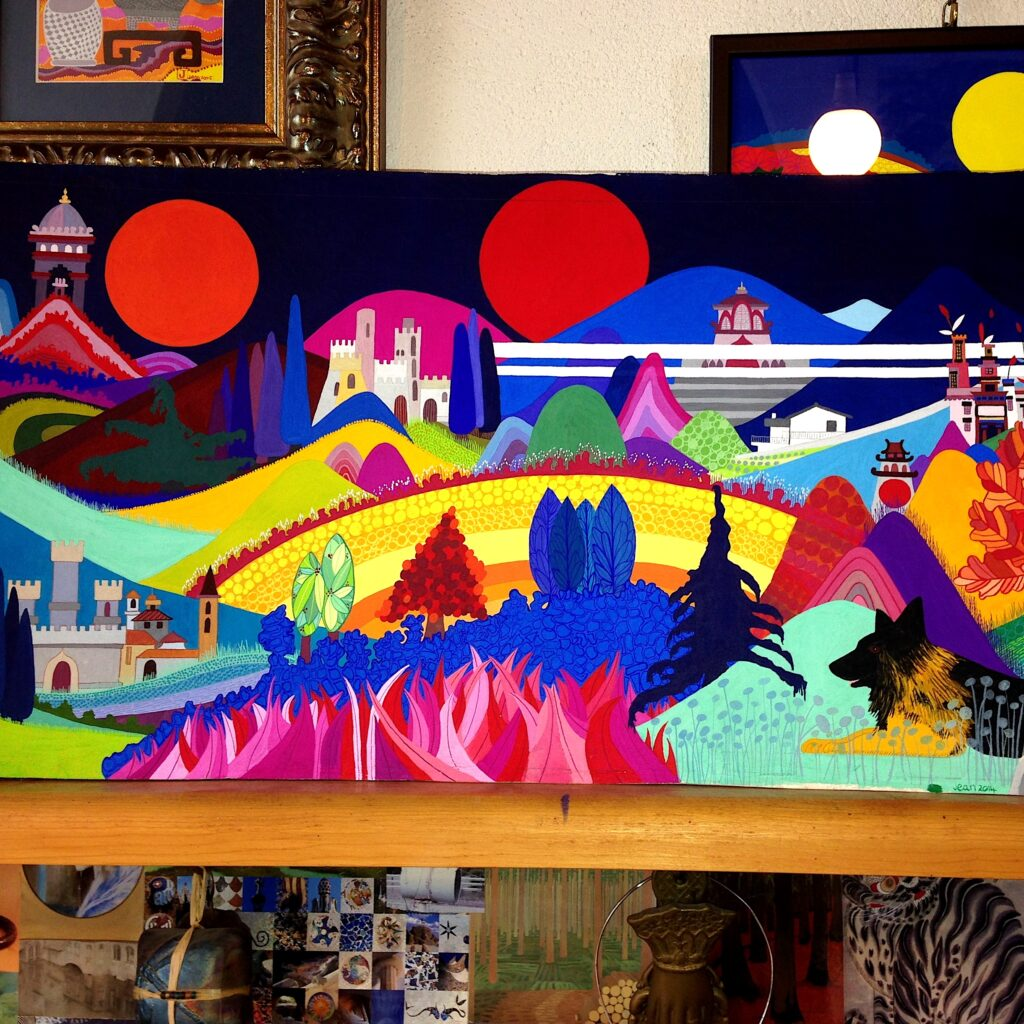 Castle, Mountains and Morning Sun by Jean Tori 2014