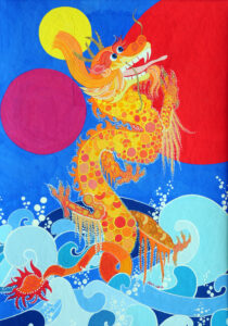 Lucy the Dragon in the Sea by Jean Tori for Leo's Birthday Adventure 2019