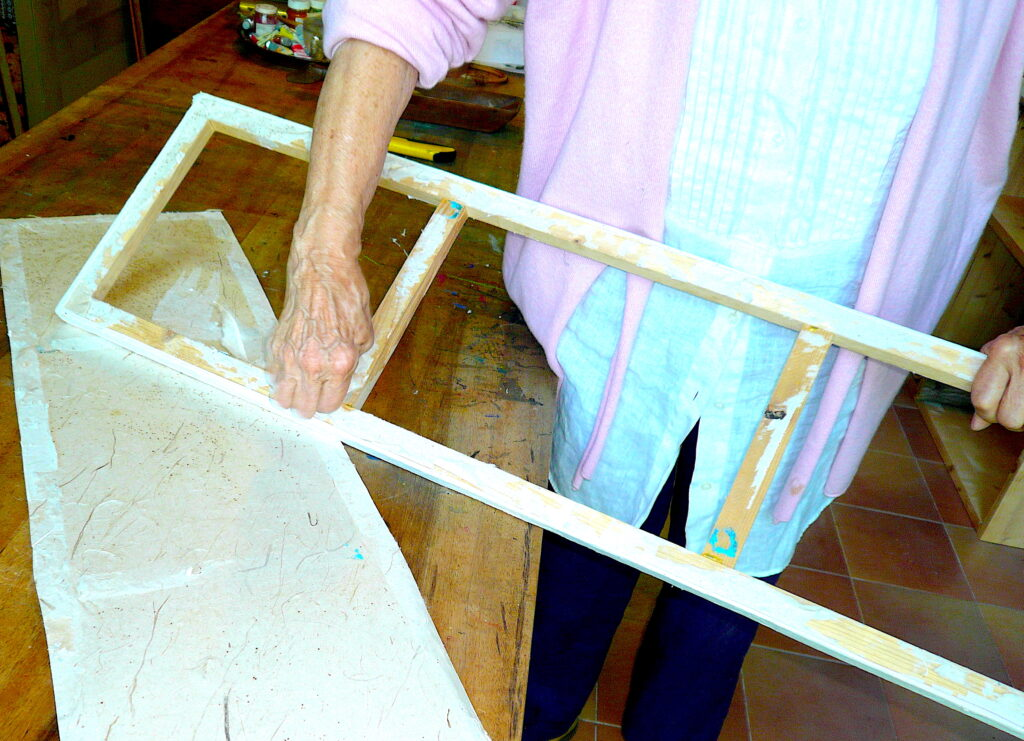 9 Wooden frame for paper canvas making Jean Tori