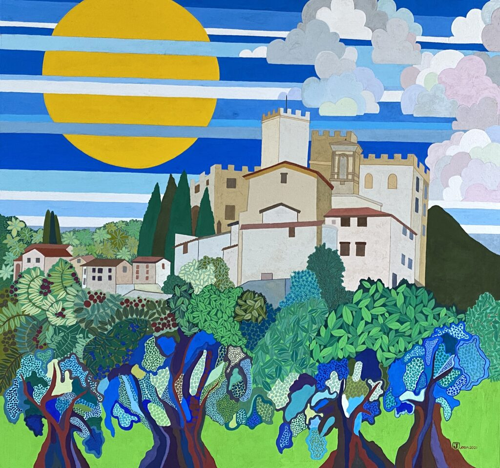 Antognolla and Olive Tree Final Painting Jean Tori 2021